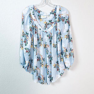 Maeve Anthropologie sz 14 balloon sleeve blouse